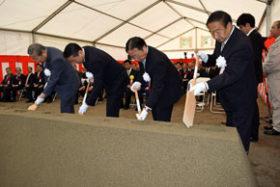 道新幹線渡島トンネル南鶉工区の安全祈願祭