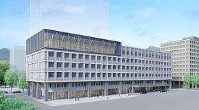 道議会庁舎完成予想図