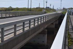 架換含め対応検討 台風18号で被災の36号竹浦橋