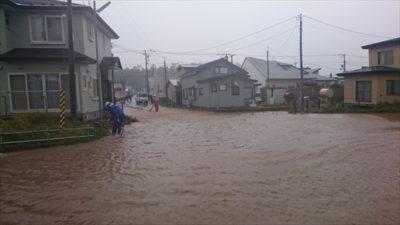 9月18日の台風で冠水した伊達市内