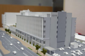 北見市が新庁舎の完成模型を展示中