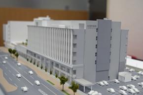 北見市新市庁舎の300分の1サイズの模型