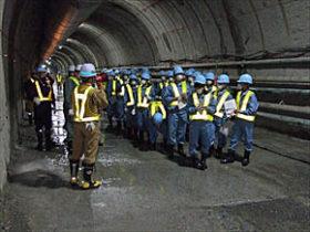 建設業の魅力紹介 函館工高生が道新幹線トンネルで見学会