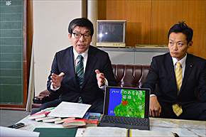 留萌市長選に立候補した庄司氏