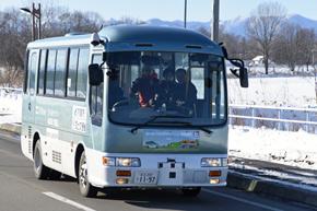 大樹町で行われている道開発局の高度運転自動化実証実験の様子