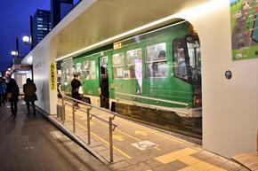 札幌市路面電車ループ区間のサイドリザベーション方式