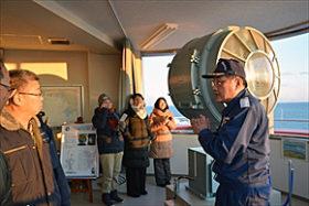 「絶景の夕日」PR 釧路埼灯台、市民団体が内覧会