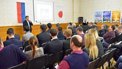 札幌市とノボシビルスク市が共催したレセプションの様子