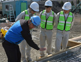 「建設現場で仕事をやってみたい」北見工高生が実習体験