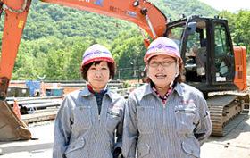 重機オペに華麗な転身 海陸興業の佐藤さんと高橋さん