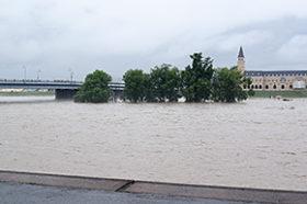 前線の影響で旭川市内全域でも大雨被害
