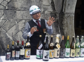 定山渓ダムのリムトンネルで日本酒貯蔵実験スタート