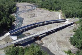 台風被災から2年 273号高原大橋がきょう開通