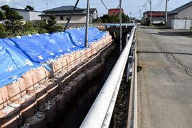 日高町門別地区でも町道や河川などに被害 胆振東部地震