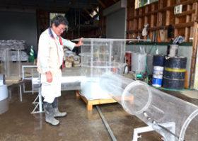 暗渠洗浄機を下水道管点検用に 川崎建設が道工試と開発中