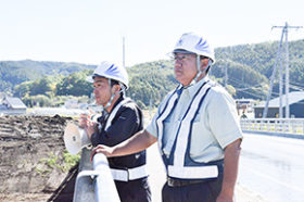 震災から1カ月 地元業者が厚真川の応急復旧を振り返る