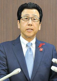 災害に強いまちへ 秋元市長、里塚で来週復興工程説明