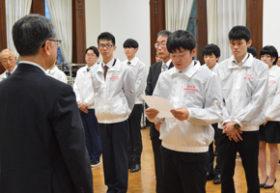 技能五輪全国大会の本道選手団 道庁訪問し決意