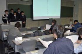 道科学大生が住宅の工程表づくりを体験、発表会も