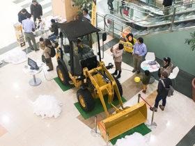 イオンで除雪機展示 日本キャタピラーが個人向けPR