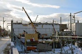 苫小牧市内の国道276号緑こ線橋架け換え工事は順調に進む