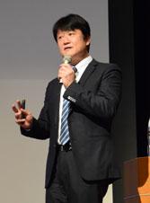 元日ハムコーチの阿井氏 人材育成テーマに講演