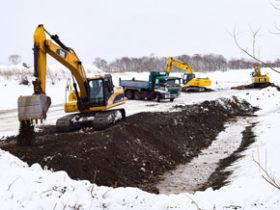 開発局の計画見直し受け河川砂利採取始まる