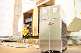 小型点検機で非常用発電設備の点検を廉価に キムラ