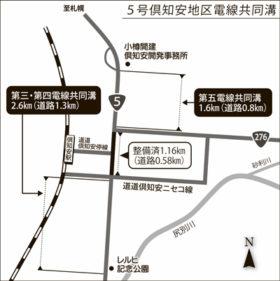 2.1キロが無電柱化 5号倶知安駅前の電線共同溝を延伸へ