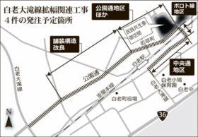 白老大滝線 JR白老駅周辺の拡幅関連工事4件を公告へ