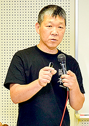 沈下修正へ最適な工法を 曳家岡本の岡本社長が講演