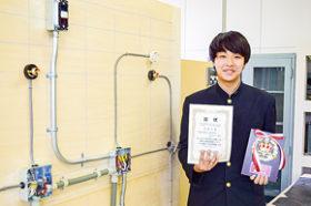琴似工高佐々木さん全国へ ものづくりコンテスト電気部門