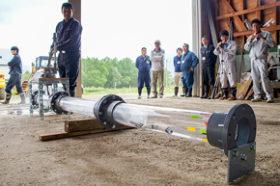 下水道管点検ロボット実用化に手応え 川崎建設が開発中