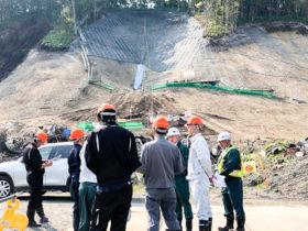 震災復旧工事の安全を確認 厚真町吉野で現場パト