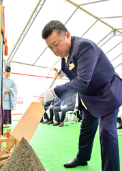 東陽製袋が経営多角化でチーズ製造へ 工場新築の地鎮祭
