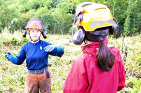 女性限定は道内初 道林業木材課が十勝で現場体験ツアー