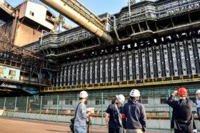 室蘭製鉄所第5コークス西炉の完成式 日本製鉄