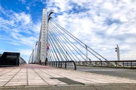 十勝大橋の御影石歩道補修 アスファルト舗装に転換へ