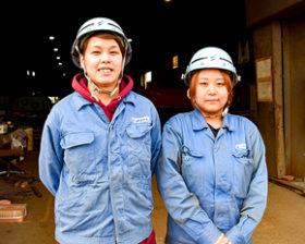 釧根で輝く女性たち(1) 残間金属工業 中村光保さん、米谷陽向さん
