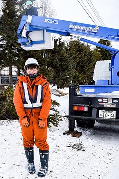 女性初の造園系技術職に 馬淵建設の北川捺希さん