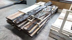 ひだか南森林組合が大径木を半製品化