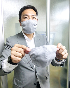 在宅勤務が困難な人向けに抗菌布マスク開発 R―e