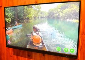 VRでカヌー疑似体験 支笏湖ビジターセンターの新展示