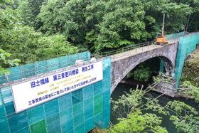 産業遺産保存へ 旧士幌線第三音更川橋梁の補修が本格化