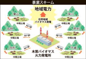林地残材を燃料化 栗山や千歳など6地区に中間土場
