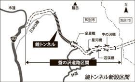 芦別市の452号鏡トンネル新設 9月第3週に公告