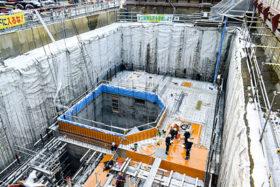 新得町トムラウシで中小水力発電 地中の建屋建設が佳境