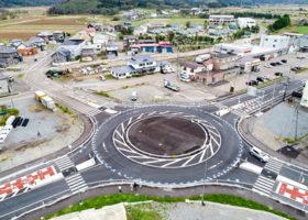 環状交差点、事故回避に効果 上ノ国と浜頓別に導入