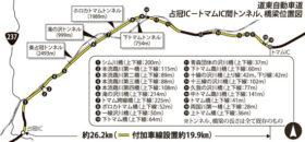 道東道占冠―トマムIC間19.9kmで4車線化の準備進む