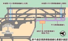 新千歳空港誘導路複線化 末端南側は22年度に本格化